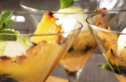 Ananas met chilimayonaise